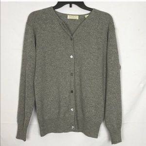 Lord and Taylor 100% Cashmere Cardigan